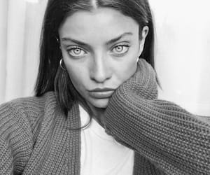 eyes, model, and black and white image