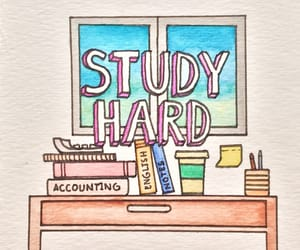 hard, study, and school image