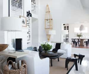 black-and-white, design, and dining room image