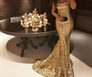 fashion and sequin prom dress image