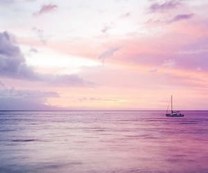 pink and sea image