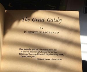 book, gatsby, and great image