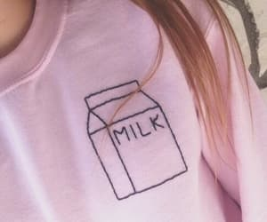 pink, fashion, and milk image