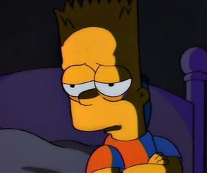 simpsons, sad, and bart image