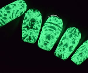 glow in the dark, nails, and nail art image