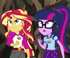 MLP, twilight, and sunset shimmer image