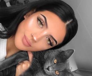 black + white + grey, girls + girly + girl, and beauty + makeup image