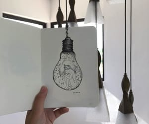 alone, inking, and lamp image