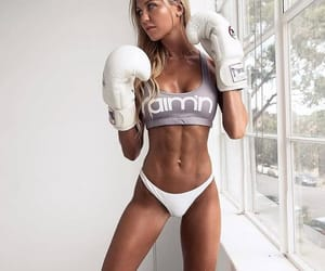 beautiful, blond, and gloves image