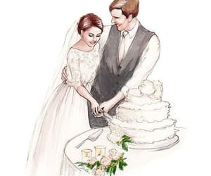 amor, parejas, and torta image
