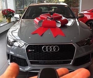 car, audi, and gift image