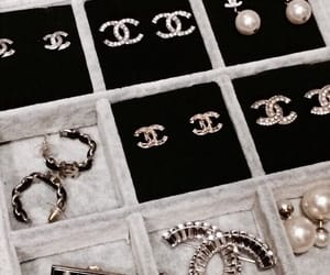 fashion, chanel, and earrings image
