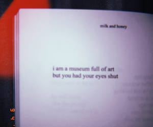 and, milk and honey, and blurry image