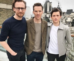 tom hiddleston, benedict cumberbatch, and tom holland image