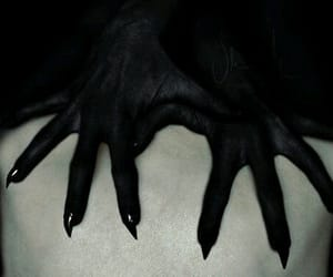 demon, hands, and dark image