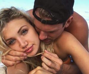 beach, boy, and cuddle image