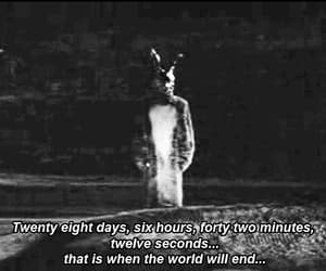 donnie darko, gif, and black and white image