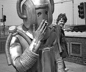 cyberman, smoking, and doctor who image