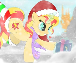 MLP and sunset shimmer image