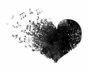 heart, music, and lové image
