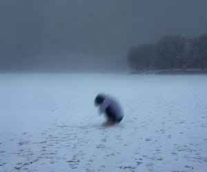 alone, pale, and snow image
