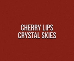 quotes, cherry, and lips image