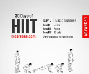 fitness, workout, and hiit image