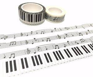 musical note, piano key, and piano sticker image