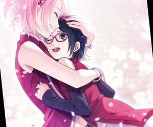 anime, naruto, and sarada image