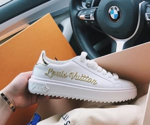 Blanc, Louis Vuitton, and sneakers image