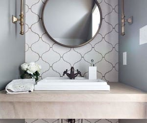 bathroom, home, and mirror image