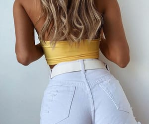 denim, yellow, and clothes image