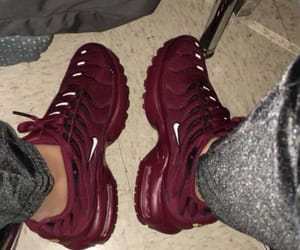air, burgundy, and sneaker image