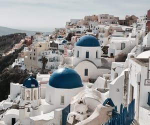 beauty, oia, and Greece image