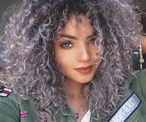 curly, hair, and fashion image