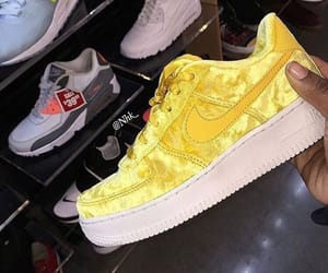 shoes, sneakers, and yellow image