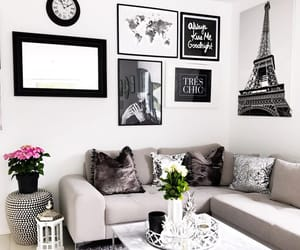 black, eiffel tower, and home decor image