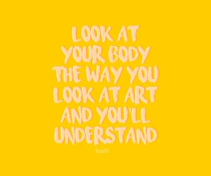 advice, body, and yellow image