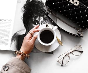 accessories, coffee, and magazine image