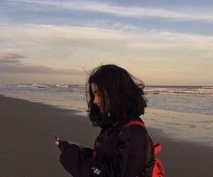 girl, beach, and grunge image