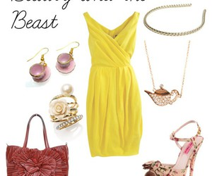 beauty and the beast, outfit, and belle image