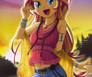 my little pony, equestria girls, and sunset shimmer image
