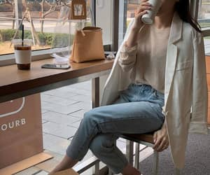 fashion, cafe, and clothes image