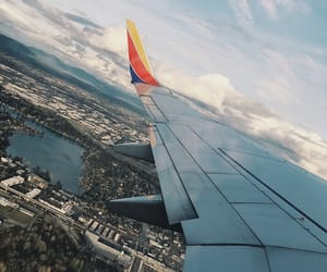 airplane, city, and day image