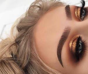 eyelashes, eyeshadow, and naked image