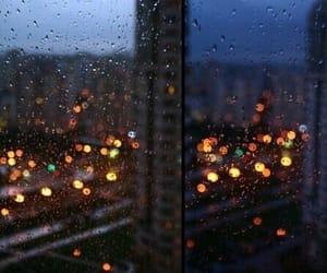 light, rain, and night image
