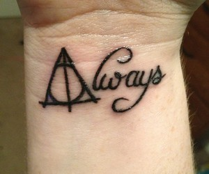 always, tattoo, and harry potter image