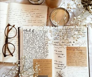 book, journal, and autumn image