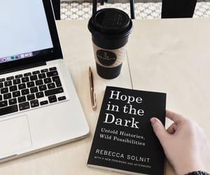 black, dark, and book image