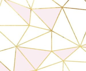 background, geometric, and gold image